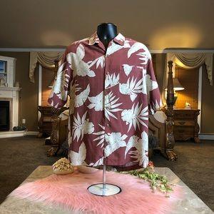 Tommy Bahama Floral Silk Shirt Size Medium